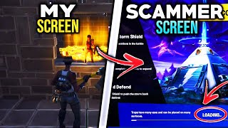 *NEW SCAM* The Loading Screen Appears Scam! (Scammer Gets Scammed) Fortnite Save The World Pve