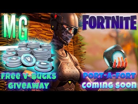 *New* Fortnite  - PLAYING WITH SUBS - Port-A-Fort + *FREE 2x 1000 V-Bucks Giveawaway*