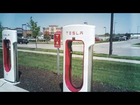 Tesla Model 3 Super Charger Station Tour - Council Bluffs, Iowa, Near Omaha Nebraska