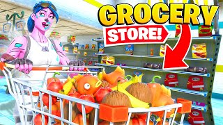 I opened up a GROCERY STORE in Fortnite... (it worked)
