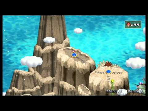 Newer Super Mario Bros. Wii - World 7 - Sky Mountain/Starry Skies