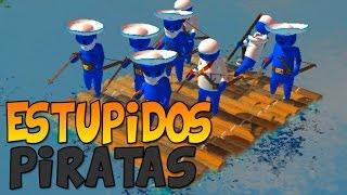 ESTÚPIDOS PIRATAS | Stupid Raft  Battle Simulator