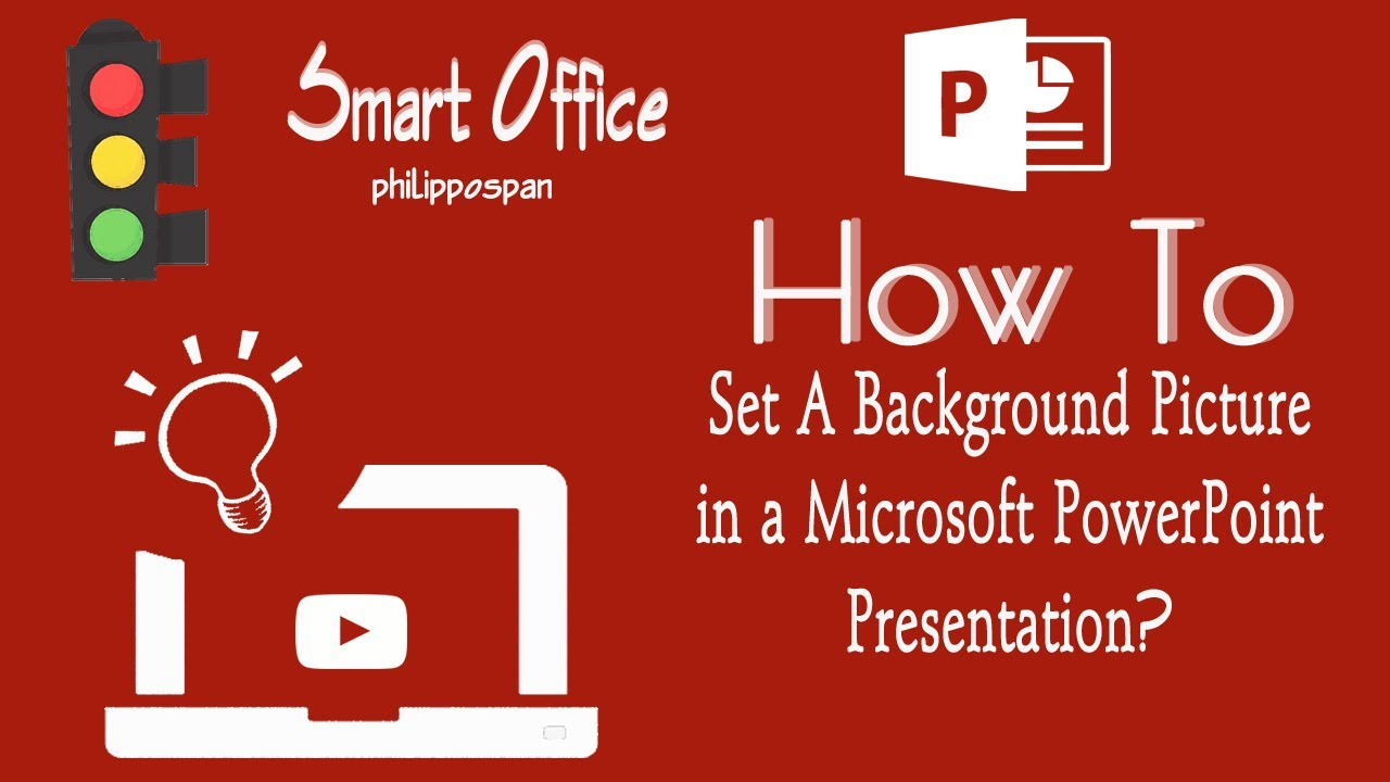 How to set a background picture in powerpoint 13 youtube toneelgroepblik