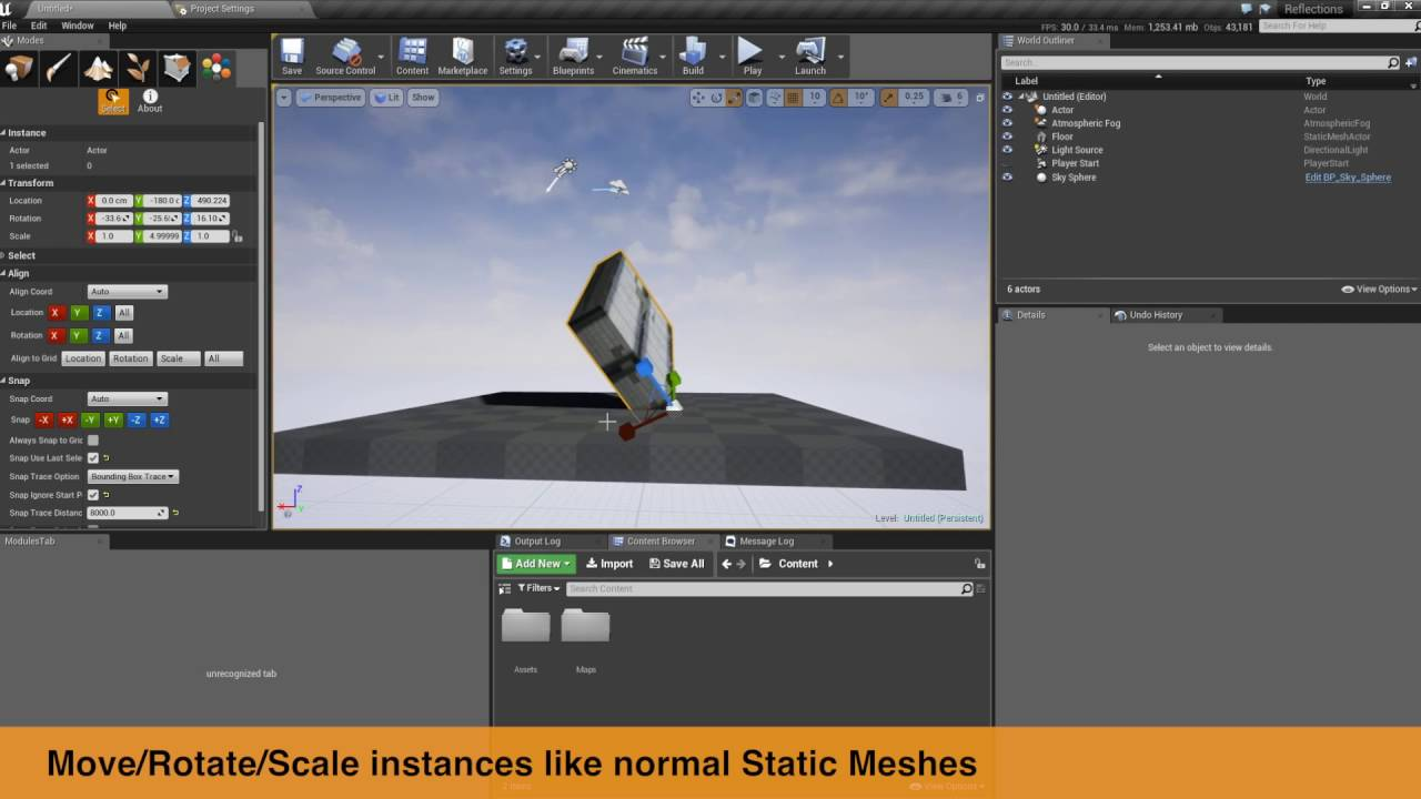 Instance Tool for Unreal Engine by marynate