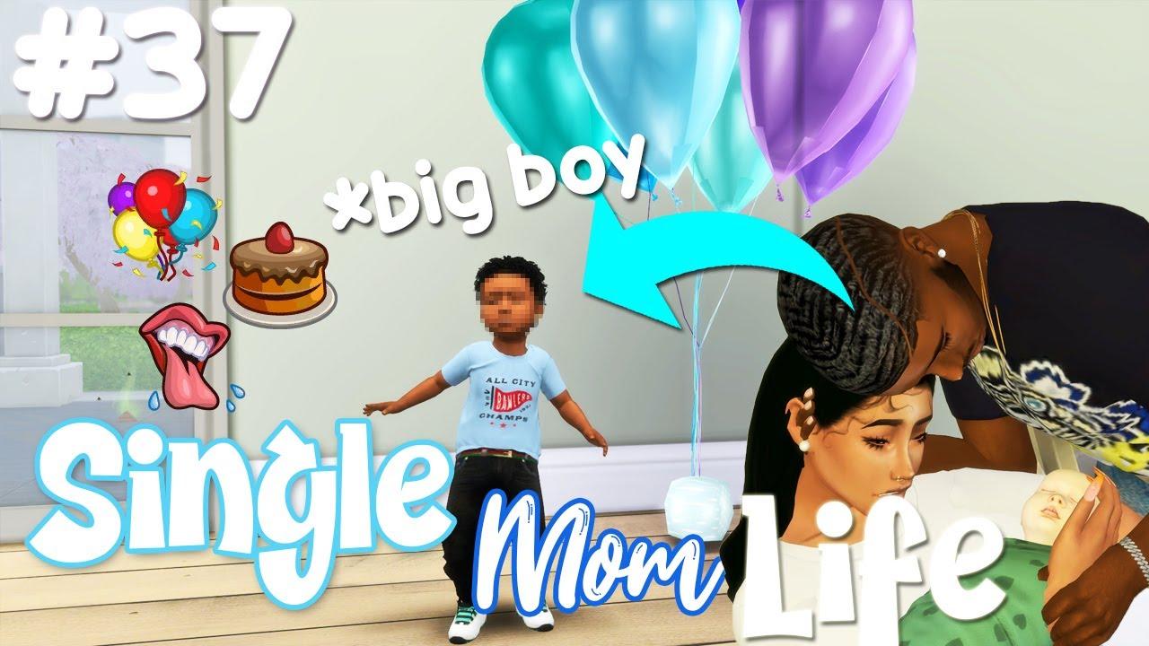 BABY BOY'S 1ST BIRTHDAY 💙🎉| Sims 4: SINGLE MOM LIFE #37