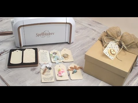 Creative Cafe Try A Trend: How to Make Creative Fabric Tags with Spellbinders