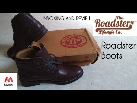 Roadster Men Brown Mid-Top Boots Unboxing And Myntra Trick