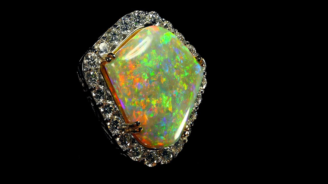 Worlds Finest Australian Opal Gemstone Pendant The