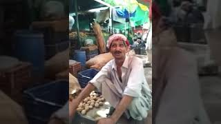 Amazing voice by vegetables hawkers
