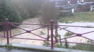 Inondations Clabecq confluence du Hain dans le canal Bruxelles Charleroi