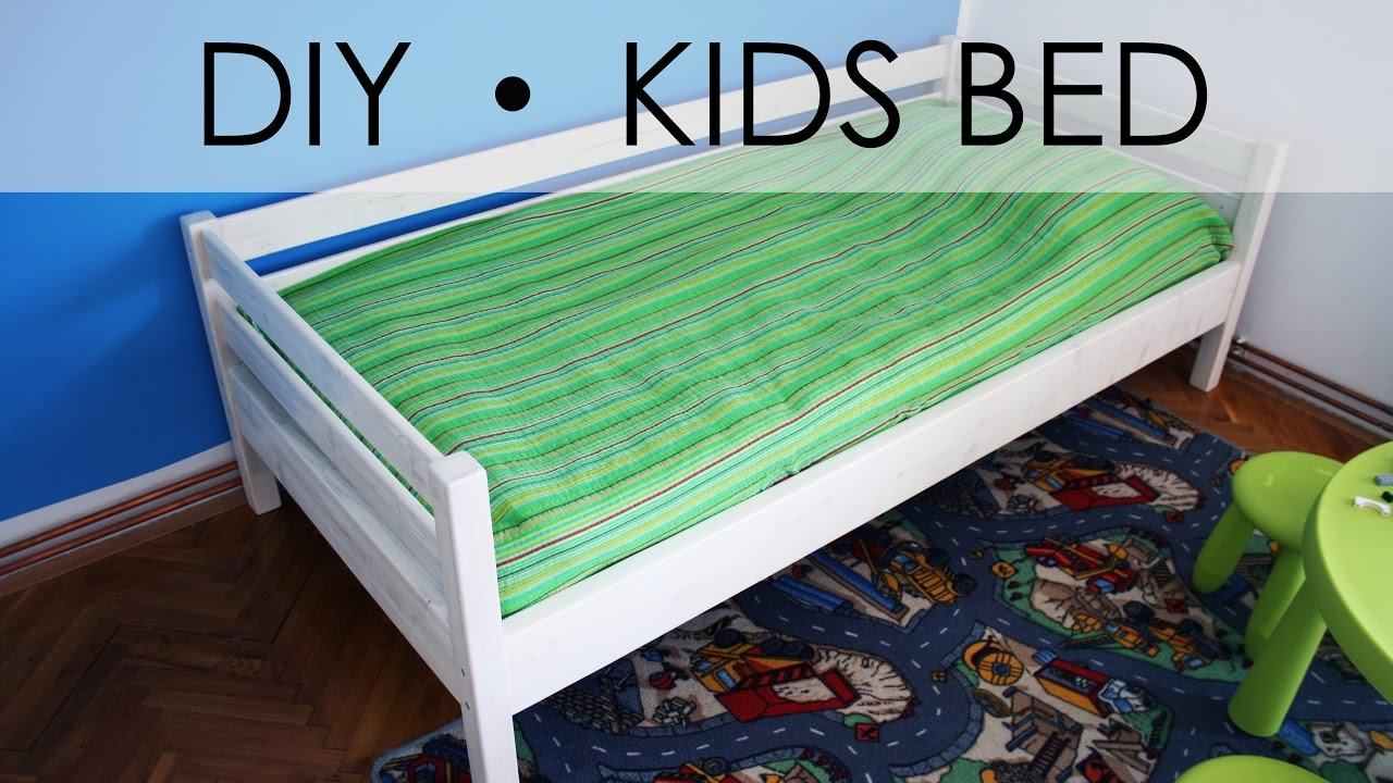 Diy kids bed easy simple youtube for Simple bed diy