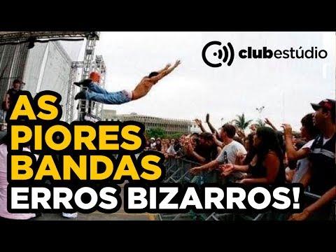 Piores Bandas do Mundo Maiores Erros Fail Compilation - Clubestúdio