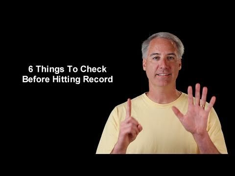 6 Things To Check Before Hitting the Movie Record Button On Your DSLR