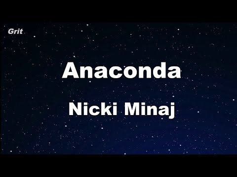 Anaconda  Nicki Minaj Karaoke 【No Guide Melody】 Instrumental