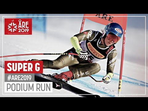 Mikaela Shiffrin | Gold Medal | Ladies' Super G | Are | FIS World Alpine Ski Championships