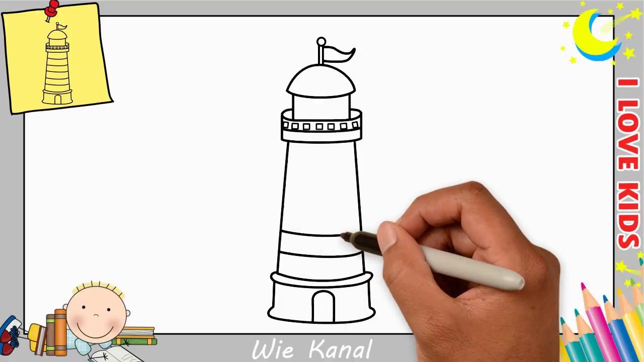 leuchtturm zeichnen lernen einfach schritt f r schritt f r. Black Bedroom Furniture Sets. Home Design Ideas