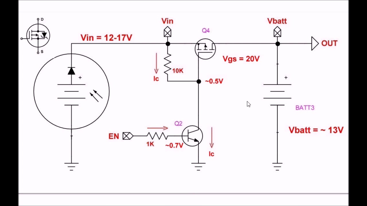 solar panel battery charge controller switching circuit solar panel voltage regulator schematic solar panel regulator schematic [ 1280 x 720 Pixel ]