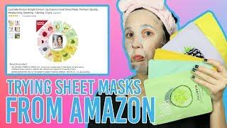 Trying Korean Sheet Masks from Amazon | Sheet Mask Demo | Lasstokki