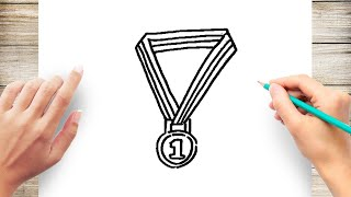 How to Draw a Gold Medal Step by Step