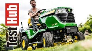 Traktorek ogrodowy John Deere X350R prezentacja