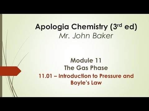Chemistry 11.01 - Introduction to Pressure and Boyle's Law