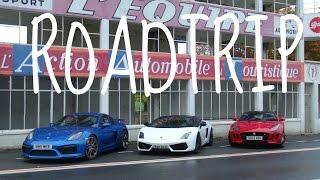 F-TYPE, GALLARDO & GT4 DRIVE TO LYON