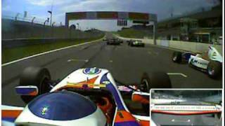 Spectacular Formula Two Crash onboard with James Cole