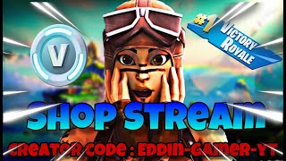 🔴 Shop Stream 🔴 Creator Code:Eddin-Gamer-YT /#Abozocken##Fortnite#Custom#Deutsch