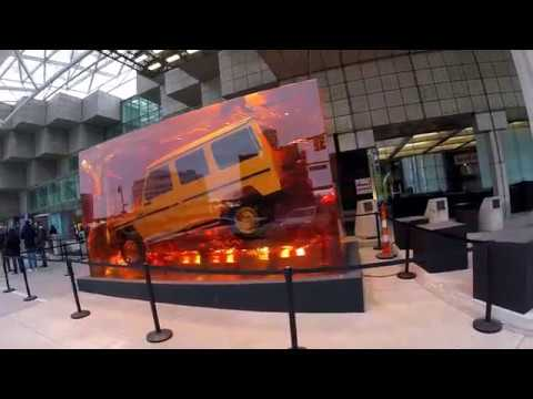 Mercedes G-Class embedded in resin