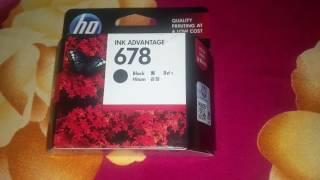 About HP 678 black cartridge detail -- HIndi