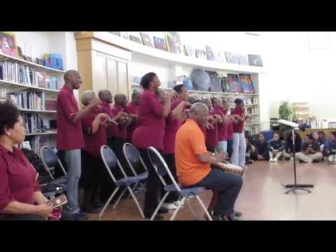 Imilonji Kantu Choral Society Sings At A School In Boston [HD] - November 7, 2018