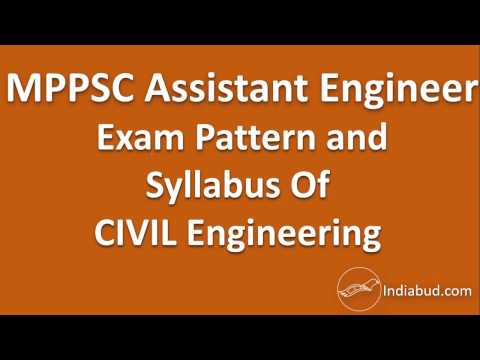 Complete Syllabus and Exam Pattern of Civil Engineering for MPPSC AE Recruitment examination
