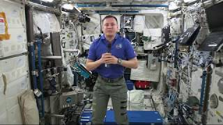 Space Station Crew Members Discusses Life in Space with the Media