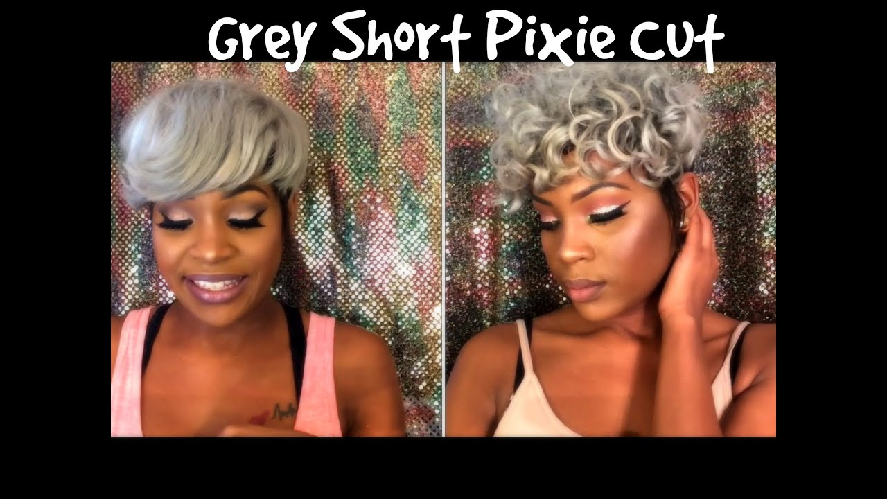 Grey Pixie Cut Sew In Overview La Bellamag Youtube