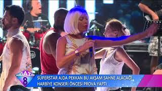 Süperstar Ajda Pekkan Bu Aşkam Sahne Alacağı Harbiye Konseri Öncesi Prova Yaptı