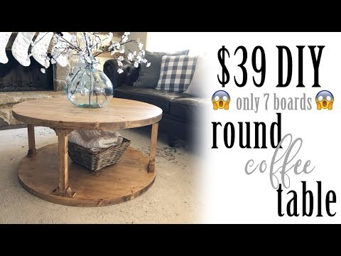 39 Diy Round Coffee Table Youtube