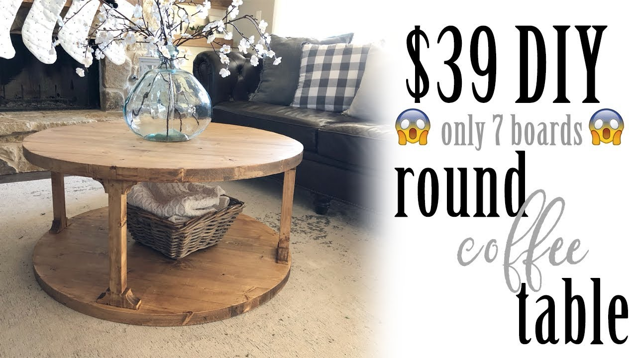 DIY Round Coffee Table - Shanty 2 Chic