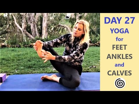 day 27 feet ankles and calves blissful yoga for easy