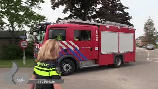 (Zeer Grote Brand) Hulpdiensten met spoed bij brand in Herveld.