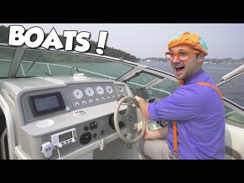 Boats For Children With Blippi | Educational Videos For Toddlers