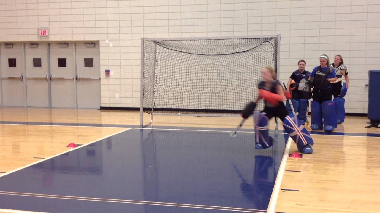 Field Hockey Goalie Drill Footwork And Repositioning Youtube