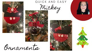 Mickey Mouse Ornaments Mickey and Minnie Christmas DIY Challenge