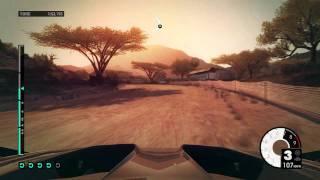 Dirt 3 gameplay PC HD  Ultra settings dx11 GTX 560 - Rally Kenya Sun Effects