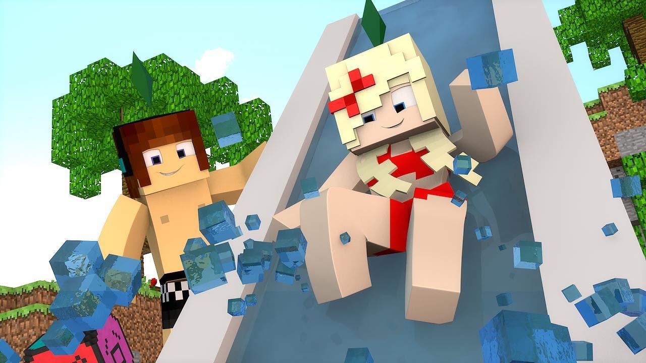 Minecraft : DIA DE PISCINA - The Sims Craft Ep.227 - YouTube