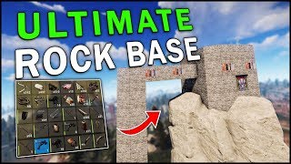 BUILDING a TOWER BASE on a GIANT ROCK! - Rust Solo #1