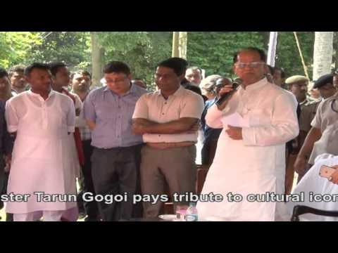 CM Tarun Gogoi pays tribute to cultural icon Dr.Bhupen Hazarika