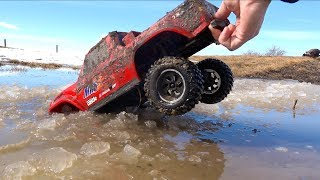 Son Maurice Goes ROOF DEEP! Moe & Dad Gone Muddin'! Traxxas TRX4  Axial SMT10 | RC ADVENTURES