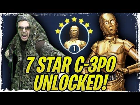 7 Star C-3PO Unlock! Chief Chirpa Zeta Necessary? Contact Protocol Legendary Event! Galaxy of Heroes
