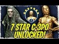 7 Star C-3PO Unlock! Chief Chirpa Zeta Necessary? Contact Protocol Legendary Event! Galaxy of Heroes