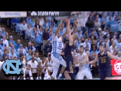 UNC's Cameron Johnson Throws Down a Thunderous Dunk vs. ND